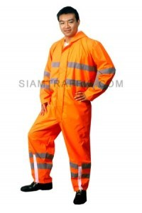 Traffic Rain Coat B Orange