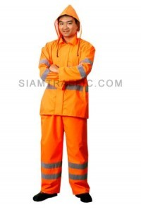Traffic Rain Coat C Orange