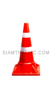 Traffic Cone Jumbo A attached with reflective sheeting
