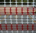 barrier fence red white