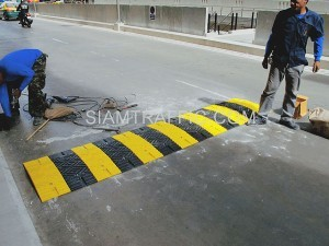 speed bumps and humps at Siriraj hospital