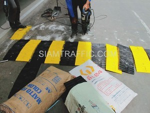 speedbump at Siriraj hospital