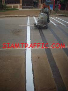 Reflective thermoplastic road marking service