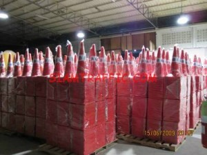 20,000 pieces of PTT. traffic cone